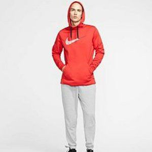 Nike Therma Fleece Pullover Training Hoodie Red